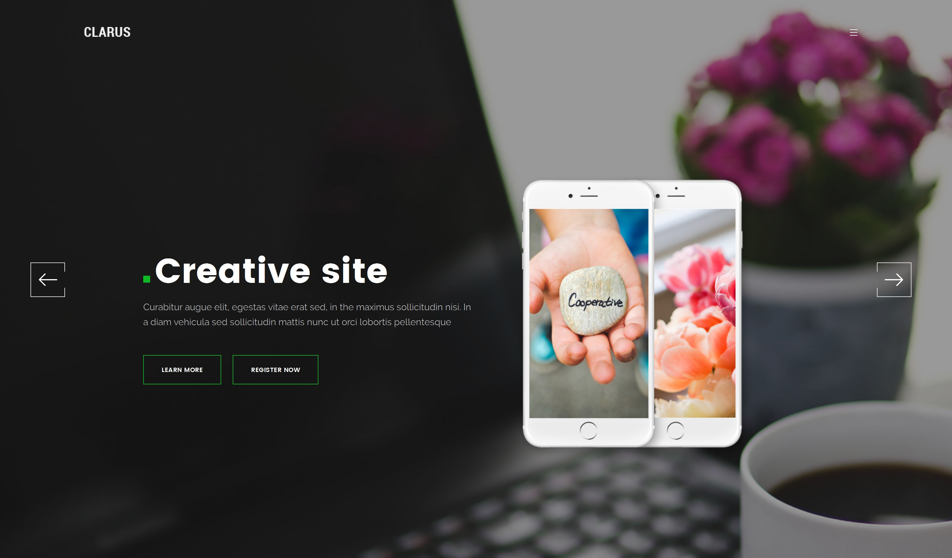 Responsive Bootstrap Website Theme