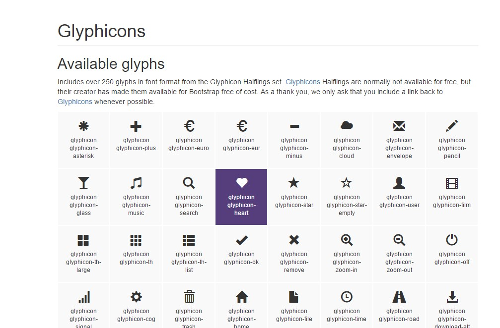 bootstrap glyphicons package