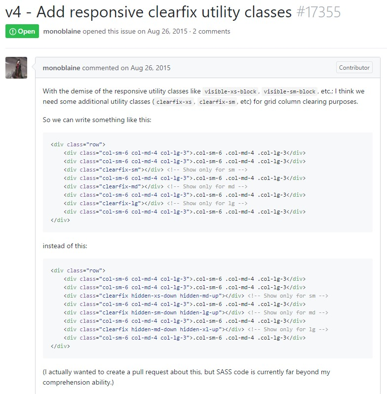 Bootstrap v4 -  Provide responsive clearfix utility classes