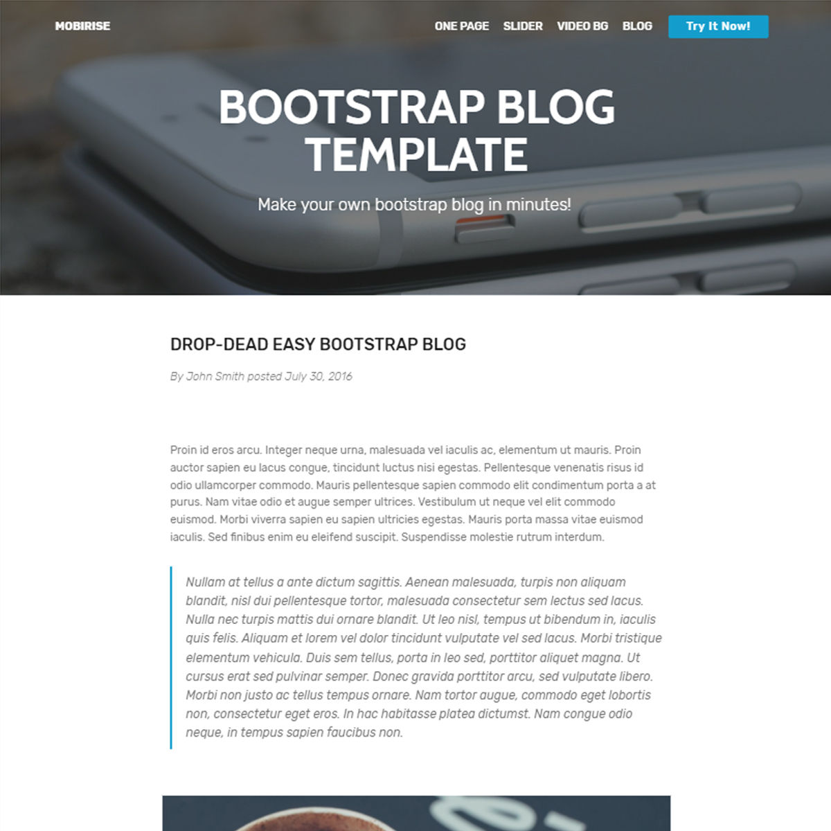 Responsive Bootstrap Blog Themes
