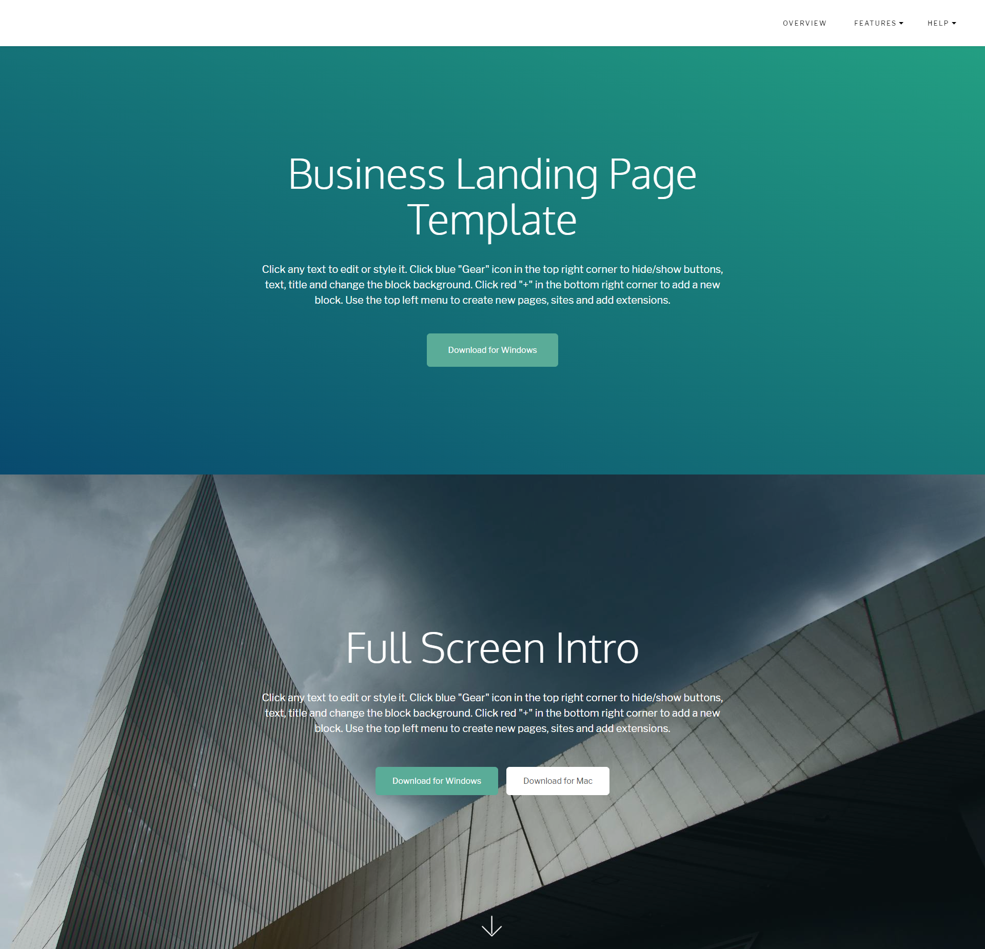 HTML5 Bootstrap Business Landing Page Templates