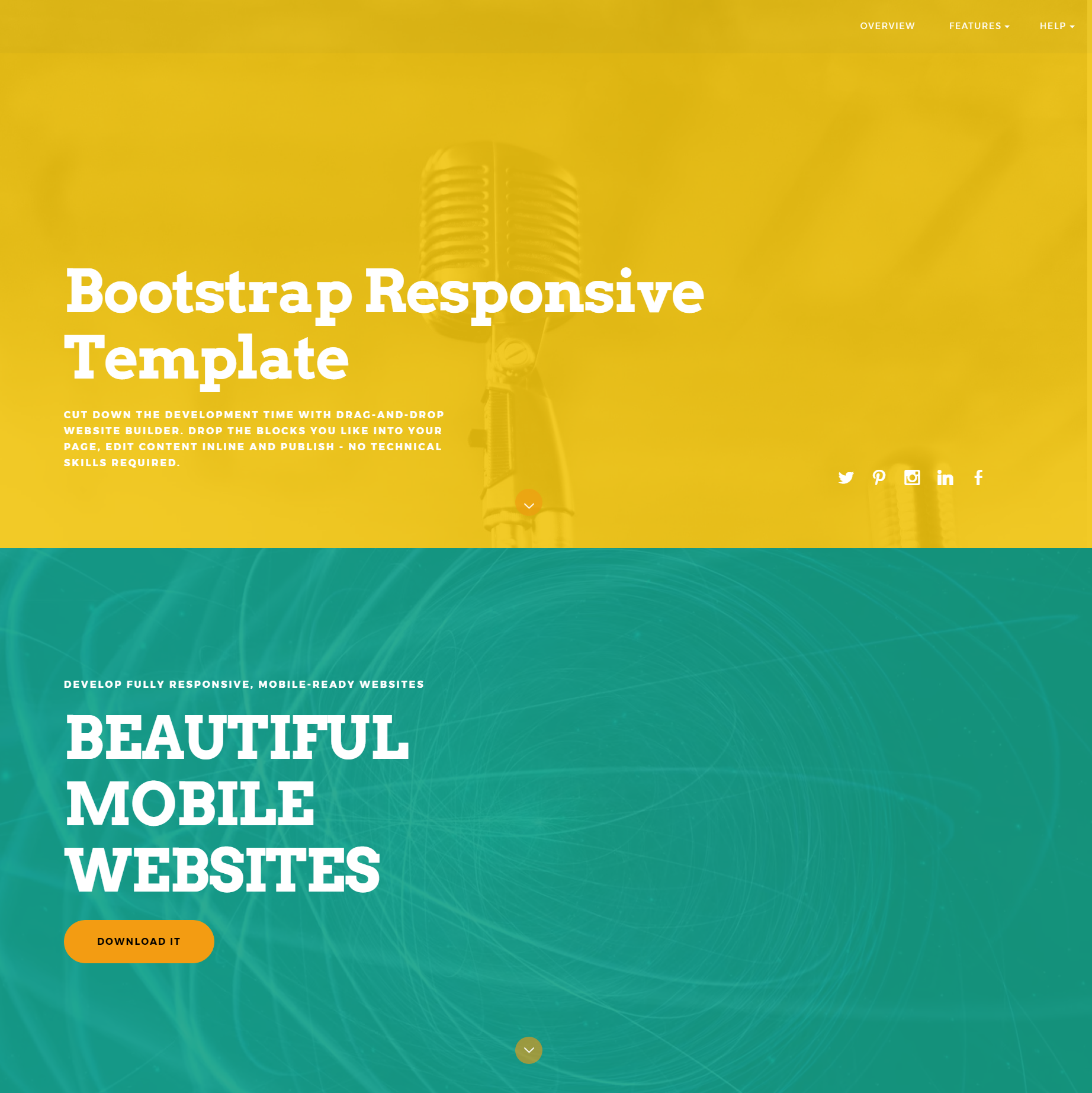 HTML Bootstrap Responsive Themes