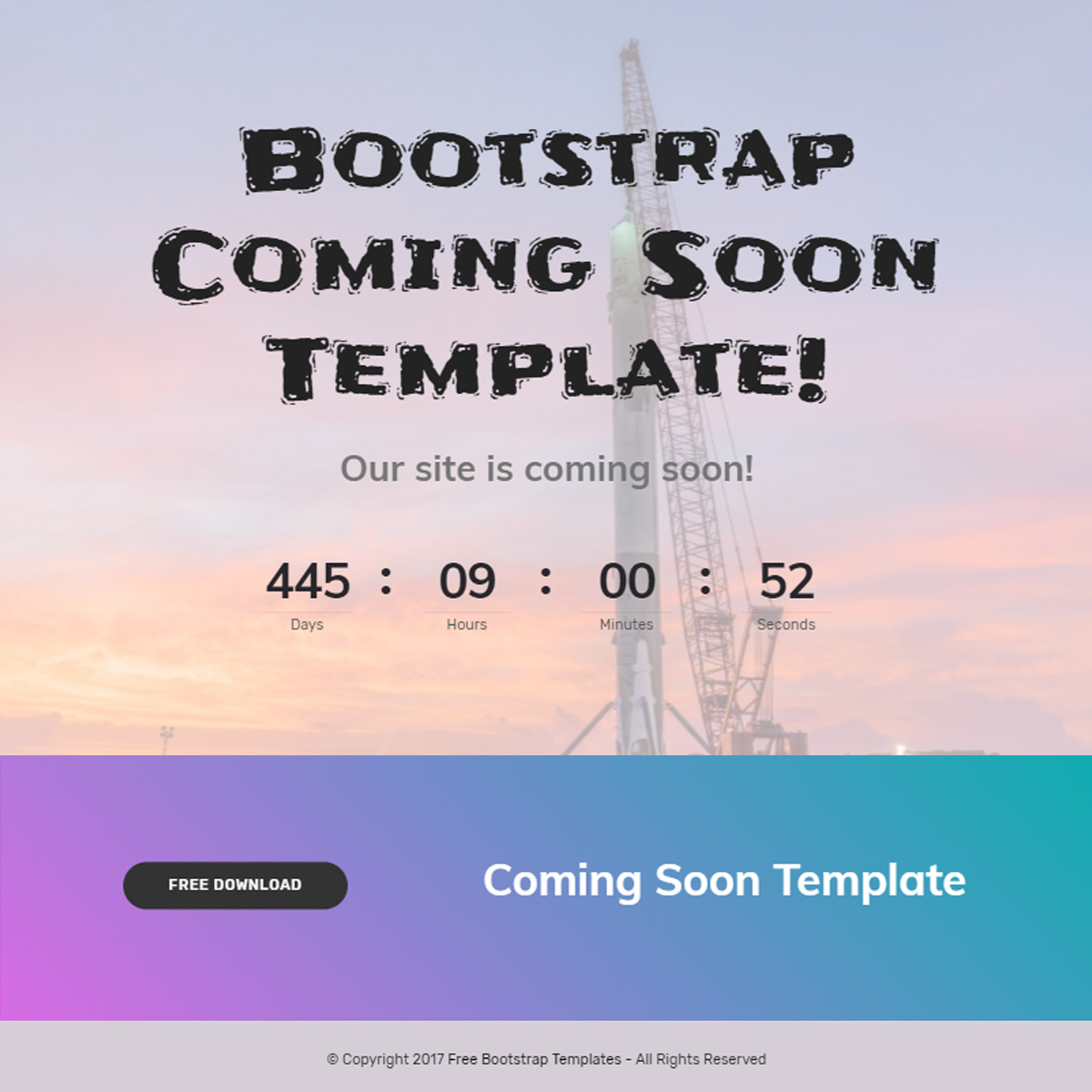 Free Download Bootstrap Coming Soon Templates