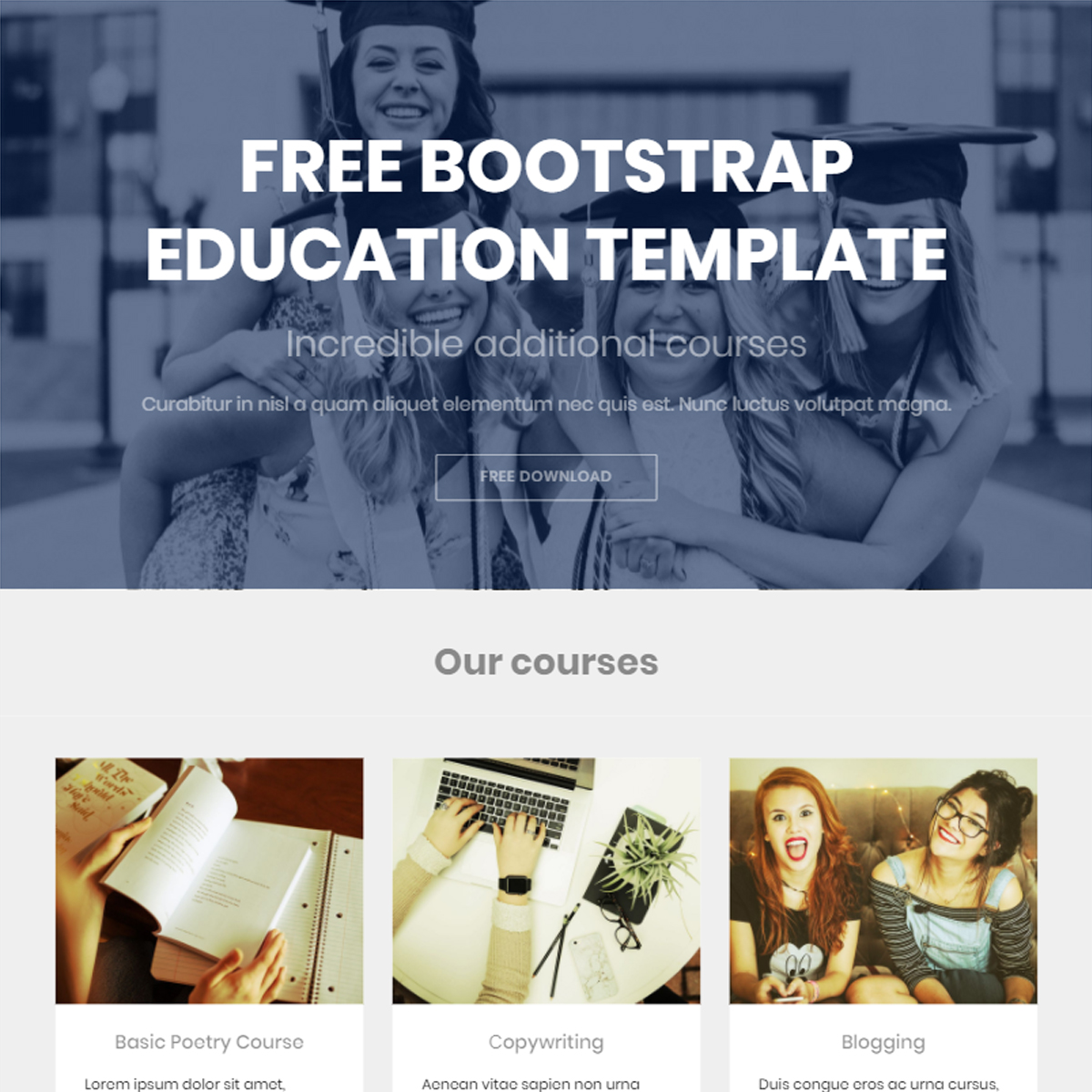 HTML Bootstrap Education Templates