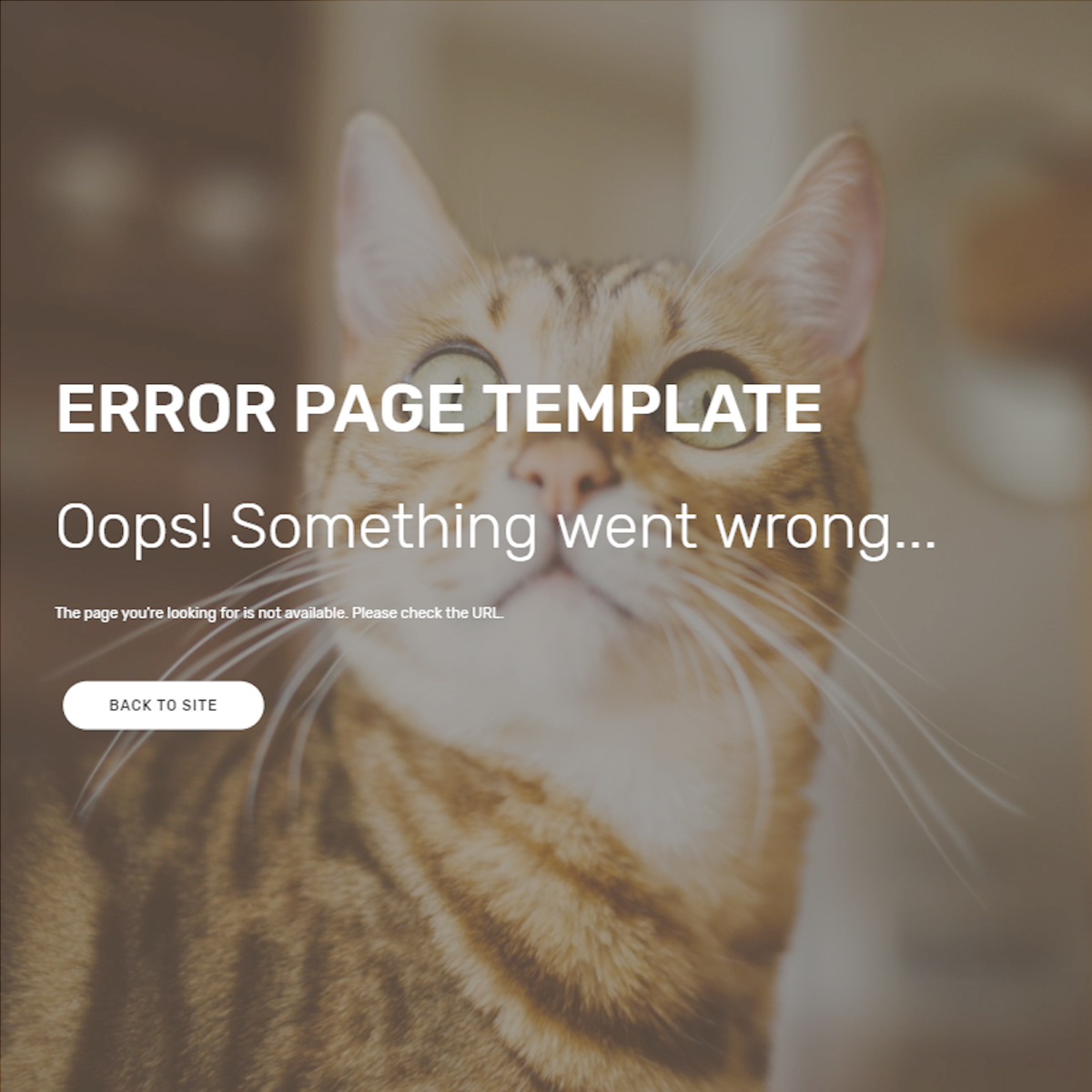 HTML5 Bootstrap Error Page Templates