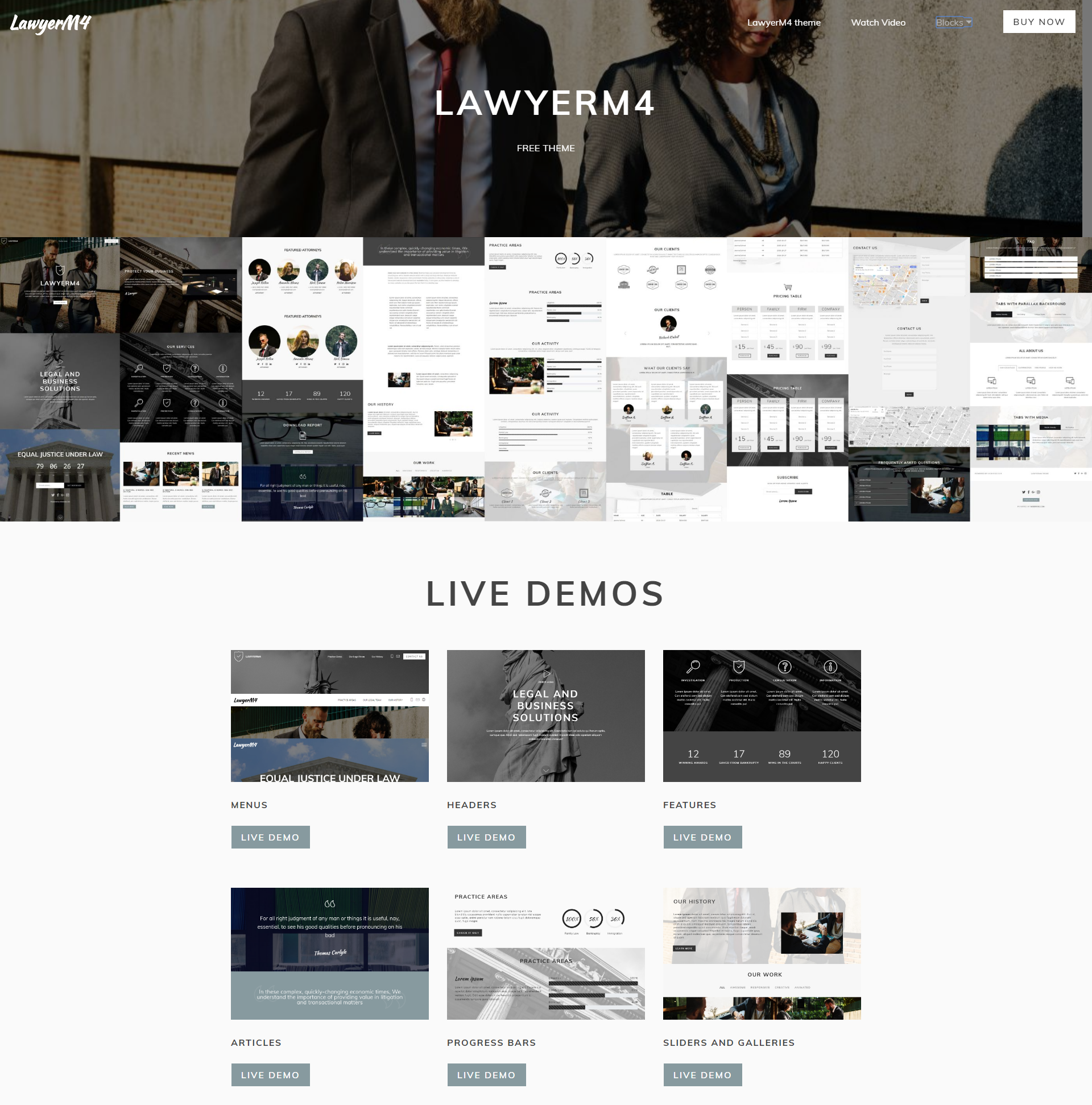 CSS3 Bootstrap LawyerM4 Templates