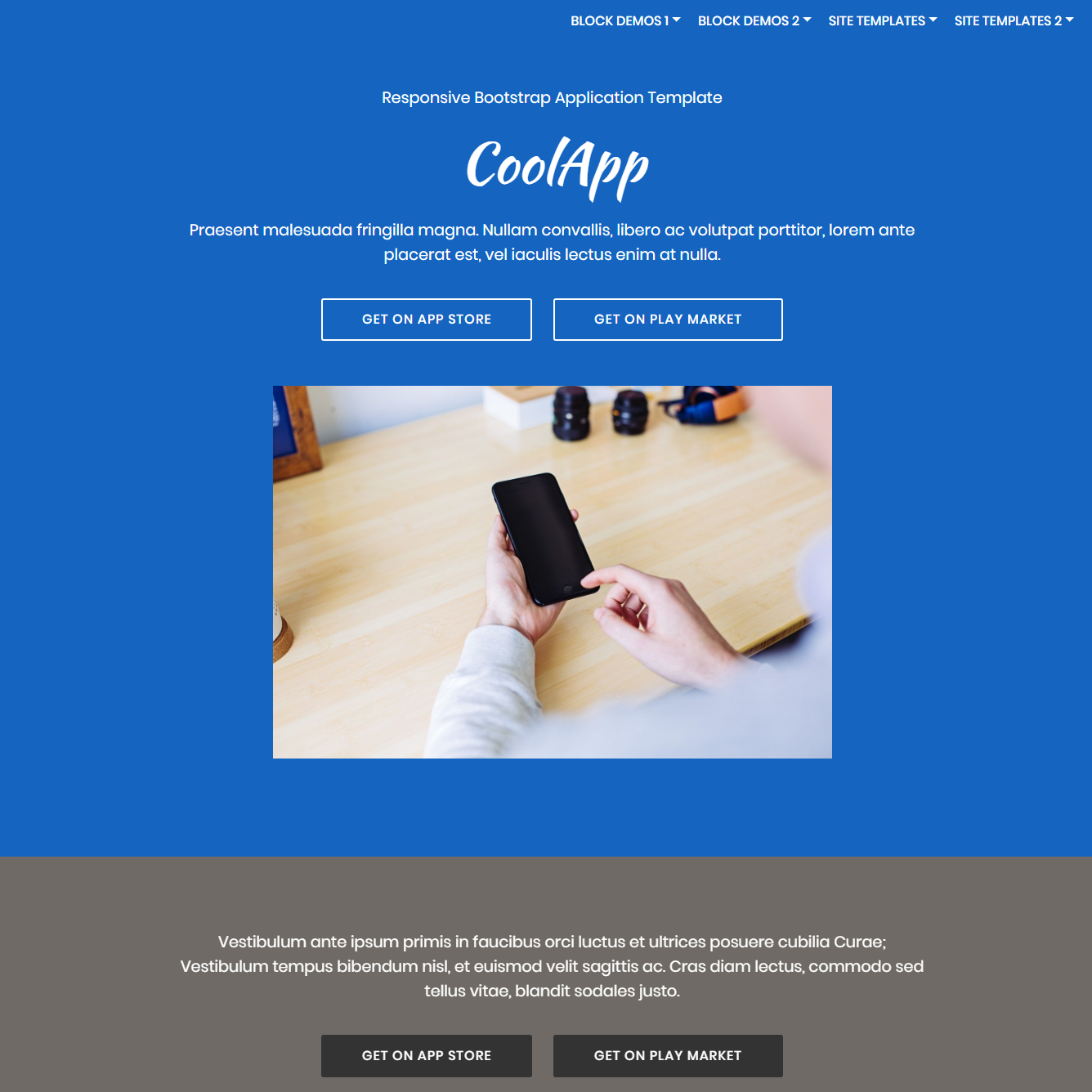 Free Bootstrap Application Themes